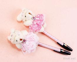可愛造型公主泰迪熊原子筆