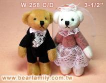 一对婚纱泰迪熊
