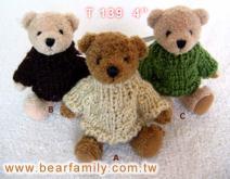 毛衣泰迪熊-絨毛玩具