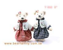 格子裙泰迪熊