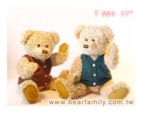 背心泰迪熊