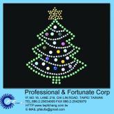 水钻+铝烫片排图 - 圣诞树