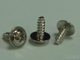 P頭十字自攻螺絲公制平尾雙牙附一片固定華司鐵鍍鎳