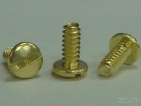 B頭一字溝美製機械螺絲黃銅
