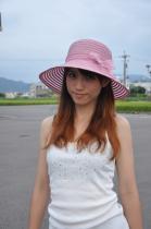 絹斜大葉草帽