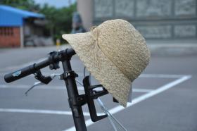 手編麻花帽