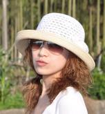 棉加草翘边帽