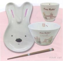 安妮兔1碗1盤1杯1筷