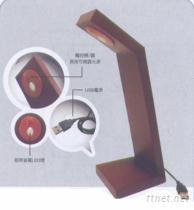 LED 原木觸控檯燈
