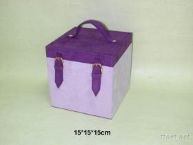 仿麂皮珠寶盒