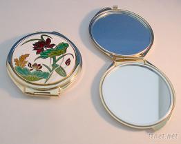 双面镜~景泰蓝化妆镜~金属化妆镜