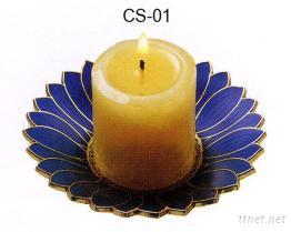 景泰藍香氛蠟燭台