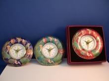 景泰蓝圆形鬧钟,时钟、鬧钟