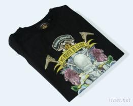 圓領衫+熱溶膠轉印