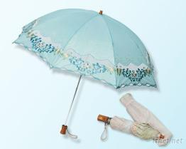 刺繡遮陽傘