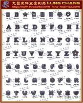 DIY 水鑽字母 吊飾五金配件 流行飾品 手工藝配件