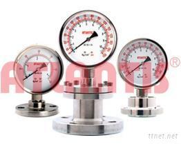 法兰型隔膜压力表