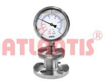工字型法蘭隔膜壓力表