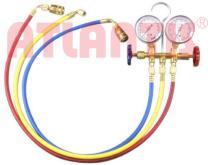 R134A 冷媒雙錶組 + 不可調整型快速接頭