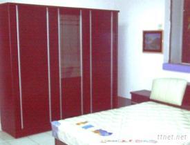 胡桃床組 + 7.7尺衣櫃(全組)