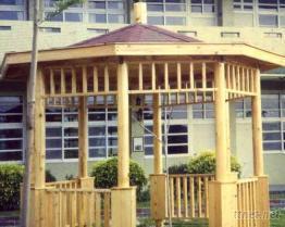 木製八角涼亭
