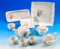 玫瑰造型茶具組