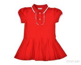 女童紅洋裝