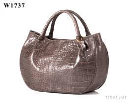 SD鱷魚紋牛革手提包