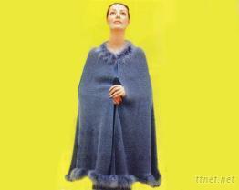 羊絨精紡斗篷