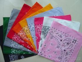 印花布方巾