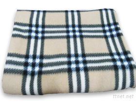 收納型刷毛毯-經典格