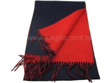 纯羊毛保暖围巾-蓝红