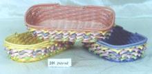 塑料仿藤編織籃