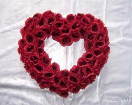 玫瑰花心形圈