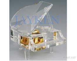 水晶鋼琴音樂盒