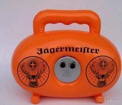 吹氣玩具, 收音機