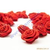 織帶玫瑰花 手工飾花 絲帶花