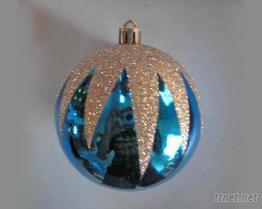 聖誕球 (藍色亮面彩繪圓球)
