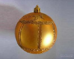 聖誕球 (金色啞面彩繪圓球)