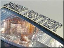 汽車水晶鑽鍍鉻字母/數字