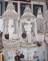 天然贝壳吊篮