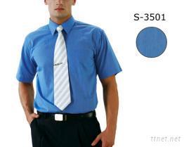 襯衫-男(素色)吸濕排汗布