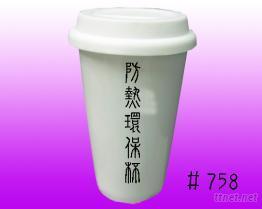 白瓷马克杯
