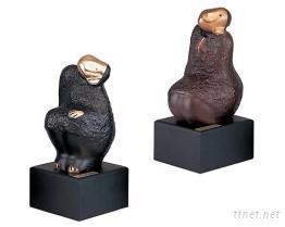 猴造型銅雕