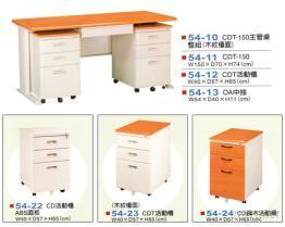 高级CDT组合办公桌, 活动柜系列