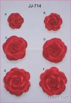 色丁玫瑰胸花