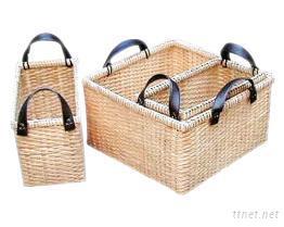 藤編置物籃