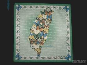台灣蝴蝶100%棉彩色印花手帕