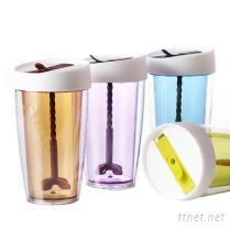 攪拌雙層隔熱水杯