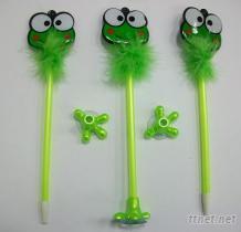 青蛙造型羽毛笔